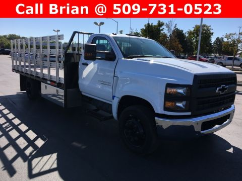 2019 Chevrolet Silverado 5500 16ft Flat Stake Bed