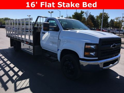 New 2019 Chevrolet Silverado 5500 16ft Flat Stake Bed